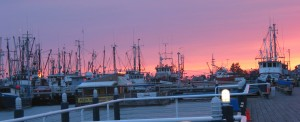 Sunset at Steveston Harbour